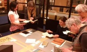 Preparing exhibition at National Library of the Netherlands AK